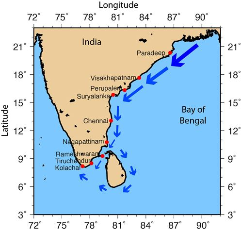 "Image result for Salinity Measurements Collected by Fishermen Reveal a ""River in the Sea"" Flowing Along the Eastern Coast of India"